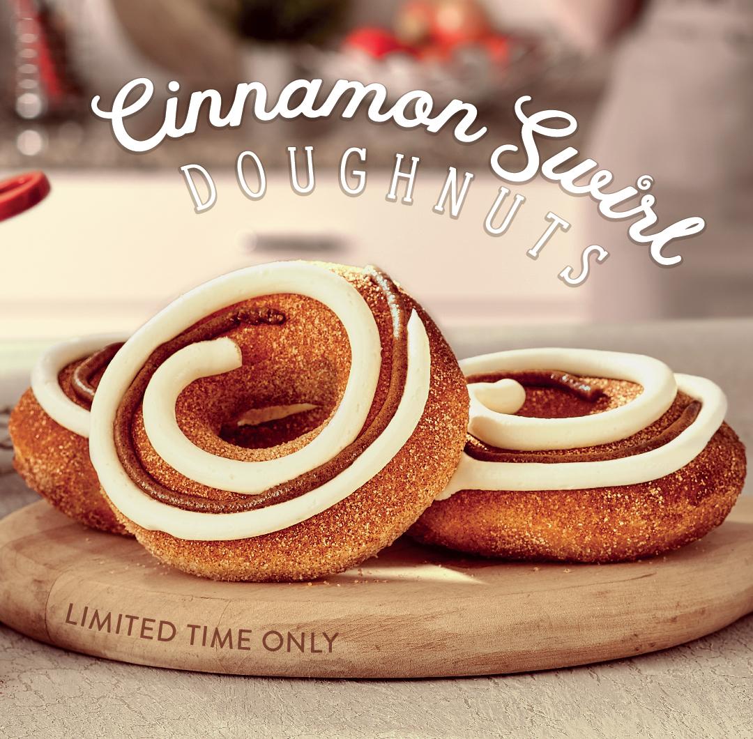 Cinnamon Swirl Doughnuts
