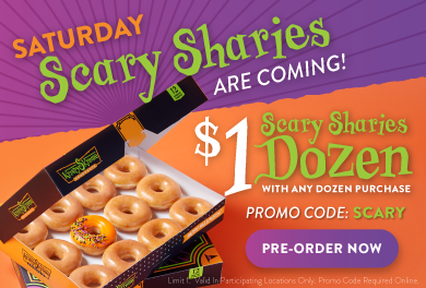 Order $1 Scary Sharies Dozen on Saturday using promo code: SCARY