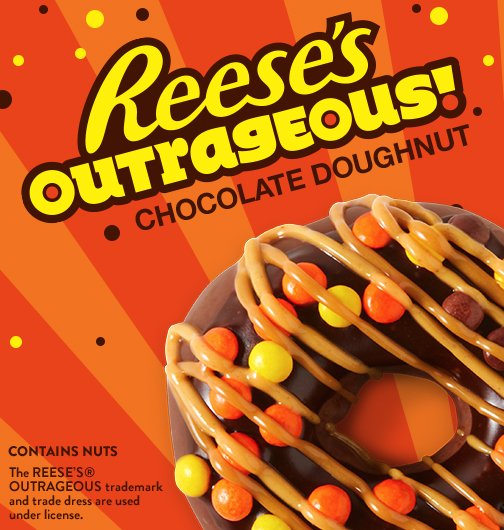 Reese's Outrageous Chocolate Doughnut