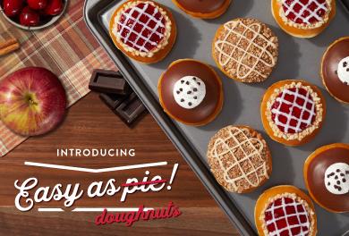 Introducing easy as pie doughnuts.