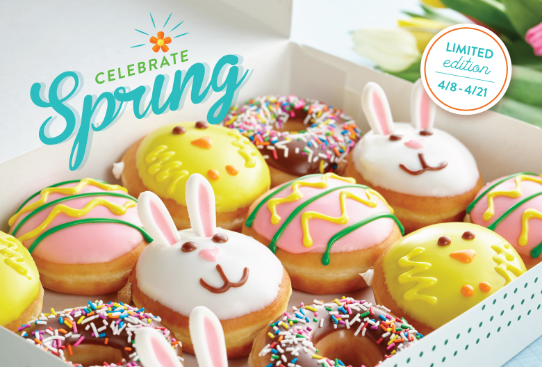 Try new Spring doughnuts today.