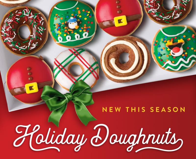 Holiday Doughnuts New this Season