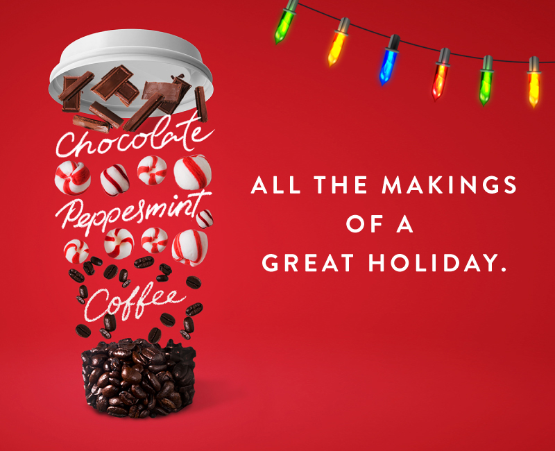 Chocolate Pepperment Coffee - All the makings of a great holiday.