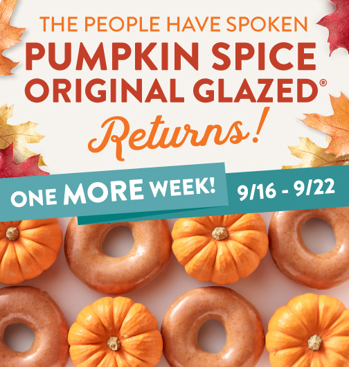 Pumpkin Spice returns!